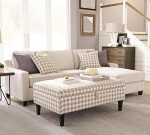 Montgomery Modern Sofa with Track Arms and Chaise
