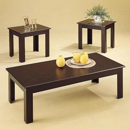 3 Piece Parquet Occasional Table Set