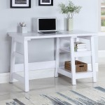 Transitional Writing Desk with Two Shelves