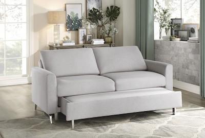 9525GRY-3CL Convertible Studio Sofa