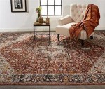Caprio Area Rug: Style 3960F, Rust