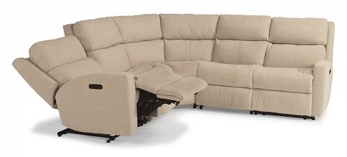 Catalina Leather Flexsteel Sectional