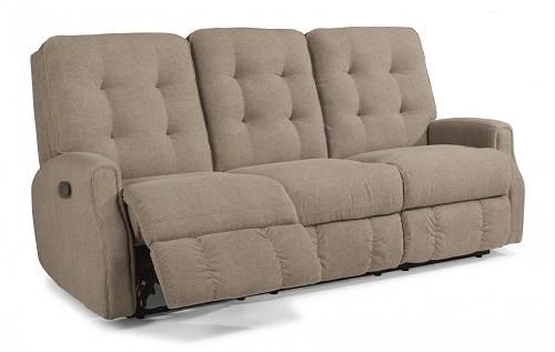 Devon Leather Flexsteel Sofa